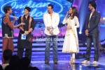 Abhijeet Sawant, Hussain Kuwajerwalan, Sanjay Dutt, Bipasha Basu, Kunal Kapoor on the sets of Indian Idol