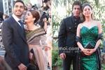 Abhishek Bachchan, Aishwarya Rai Bachchan, Shah Rukh Khan, Gauri Khan At Raavan Premiere