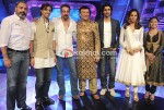 Salim Merchant,Sanjay Dutt, Anu Malik, Kunal Kapoor, Bipasha Basu on the sets of Indian Idol