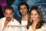 Sanjay Dutt, Kunal Kapoor, Bipasha Basu on the sets of Indian Idol
