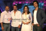 Sanjay Dutt, Bipasha Basu, Kunal Kapoor on the sets of Indian Idol