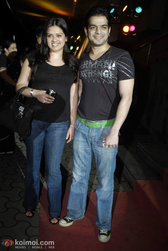 Karan Johar, Arjun Rampal At 'We Are Family' Premiere