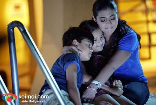 Ameya Pandy, Chinky Jaiswal, Kajol (Toonpur Ka Superrhero Movie Still)