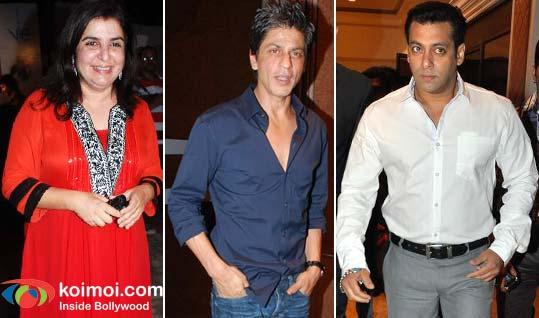Farah Khan, Shah Rukh Khan, Salman Khan
