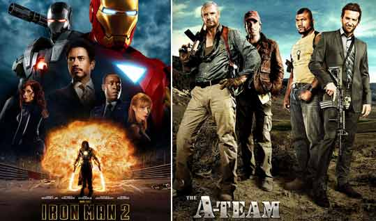 Iron Man 2 Movie Poster, The A-Team Movie Poster