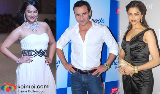Sonakshi Sinha, Saif Ali Khan, Deepika Padukone