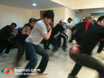 Shah Rukh Khan Shoots For Ra.One Song