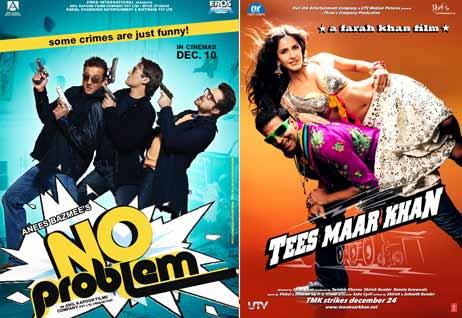 No Problem Movie Poster, Tees Maar Khan Movie Poster