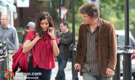 Freida Pinto and Josh Brolin (You Will Meet A Tall Dark Stranger Review)