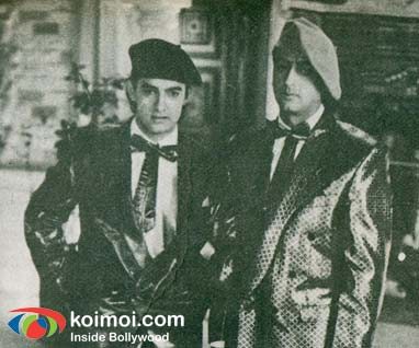Aamir Khan, Gulshan Grover (Time Machine (1992) Movie Stills)