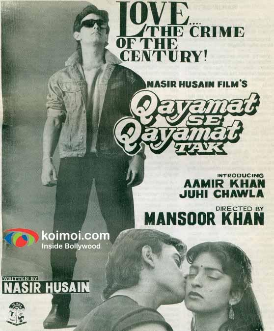 Aamir Khan, Juhi Chawla (Qayamat Se Qayamat Tak (1988) Movie Poster)