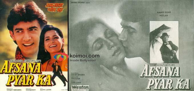 Aamir Khan, Neelam (Afsana Pyar Ka (1991) Movie Poster)