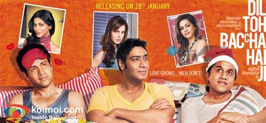Emraan Hashmi, Ajay Devgan, Omi Vaidya (Dil Toh Baccha Hai Ji Movie Wallpaper)