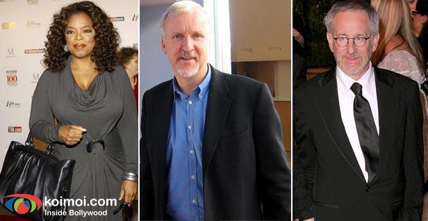 Oprah Winfrey, James Cameron, Steven Spielberg