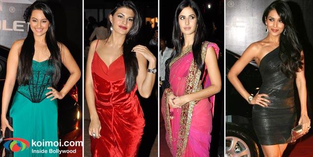 Sonakshi Sinha, Jacqueline Fernandez, Katrina Kaif, Malaika Arora Khan