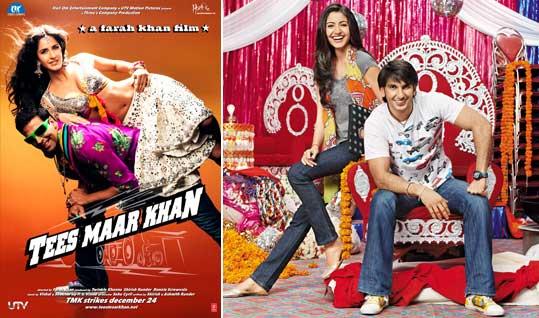 Tees Maar Khan Movie Poster, Band Baaja Baaraat Movie Poster