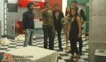 Ajay Devgan, Madhur Bhandarkar, Shazahn Padamsee (UTV Bindass Love Lockup Arshdeep-Minakshi Still)