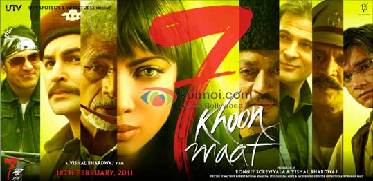 7 Khoon Maaf In Trouble For Liquor In Front Of Buddha (7 Khoon Maaf Movie Wallpaper)