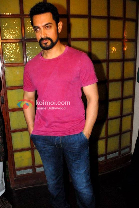 Aamir Khan At Stardust's Anniversary Bash Event