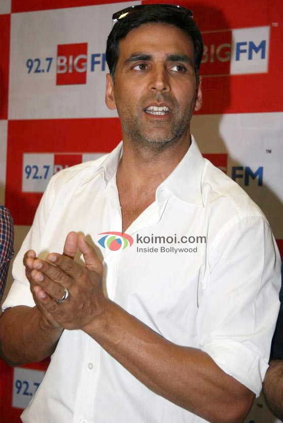 Akshay Kumar At 'Housefull' Movie Music Launch On Radio 92.7 Big FM