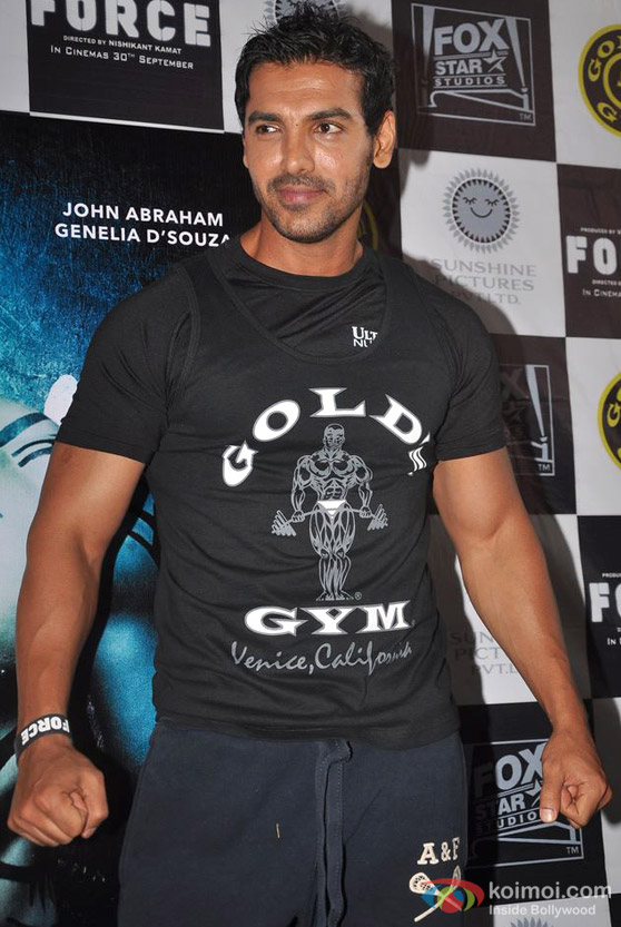 John Abraham Promote 'Force' Movie At Gold Gym