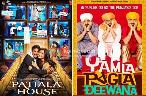 Patiala House Movie Poster, Yamla Pagla Deewana Movie Poster