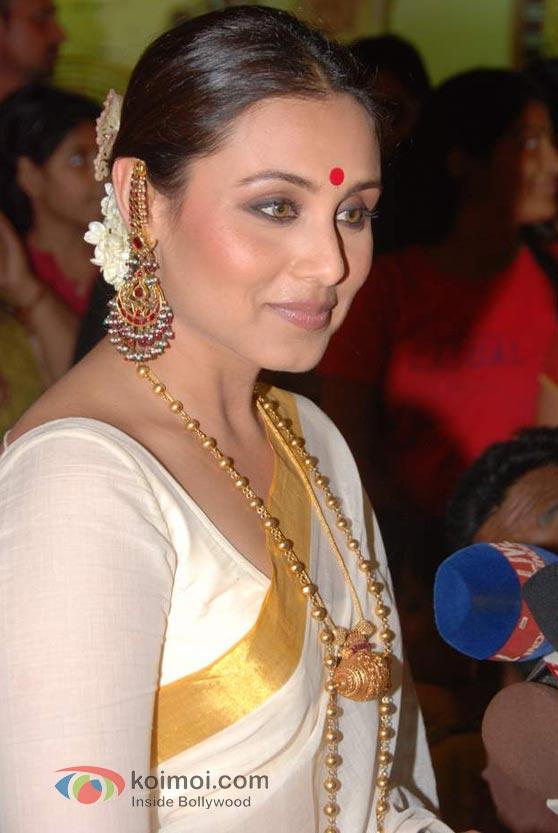 Rani Mukerji Spotted At Durga Pooja Event