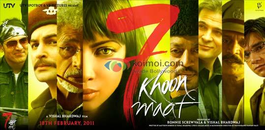7 Khoon Maaf (Saat Khoon Maaf) Review By Komal Nahta