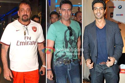 Sanjay Dutt, Ajay Devgan, Arjun Rampal (Rascals Movie Cast)