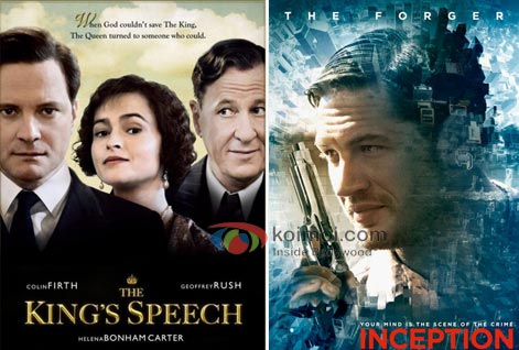 The King's Speech Movie Poster, Inception Movie Poster