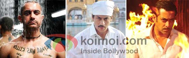 Aamir Khan In Ghajini Movie, Shah Rukh Khan In Rab Ne Bana Di Jodi Movie, Salman Khan In Dabangg Movie