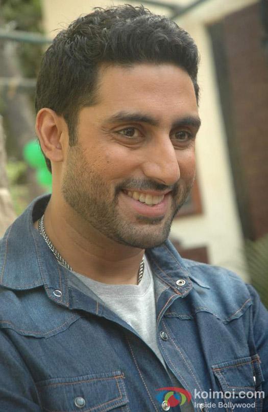 Abhishek Bachchan flashes a smile