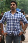 Abhishek Bachchan moustache look In Bol Bachchan Movie Stills