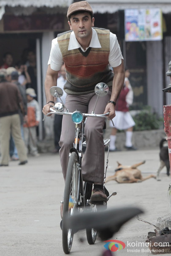 Ranbir Kapoor in cool look in Barfi Movie