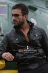 Saif Ali Khan near a chopper in Agent Vinod Movie