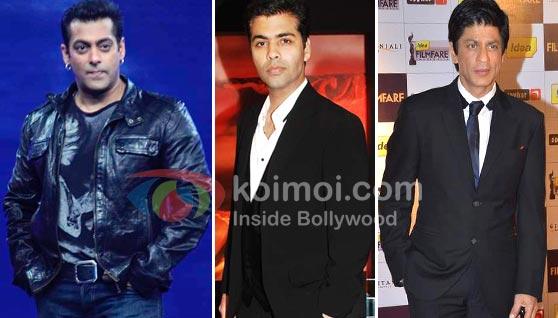 Salman Khan, Karan Johar, Shah Rukh Khan