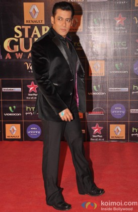 Salman Khan at the red carpet of Star Guild Awards