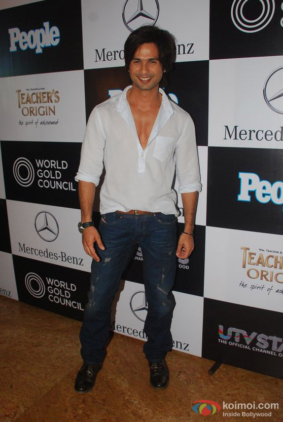 Shahid Kapoor At People Magazine Best Dressed Event