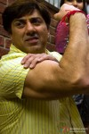 Sunny Deol 's bulging biceps in Heroes Movie
