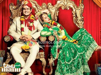 R. Madhavan, Kangana Ranaut (Tanu Weds Manu Movie Wallpaper)