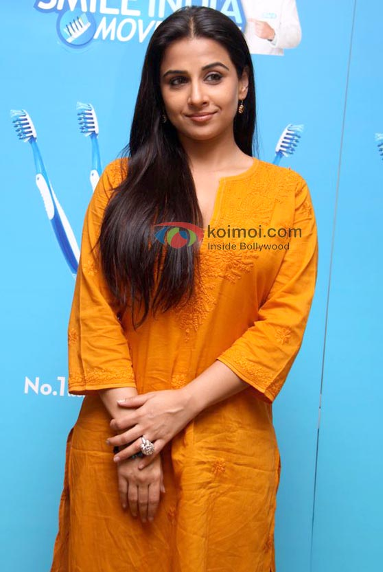 Vidya Balan At Oral-B Smile India Movement Launch Event