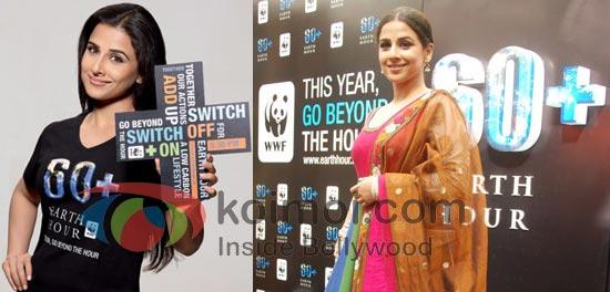 Vidya Balan Supports Earth Hour 2011