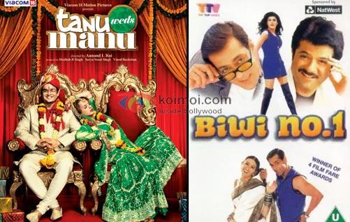 Tanu Weds Manu Movie Poster, Biwi No. 1 Movie Poster