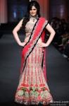 Zarine Khan walks the ramp at India Bridal Fashion Week 2012