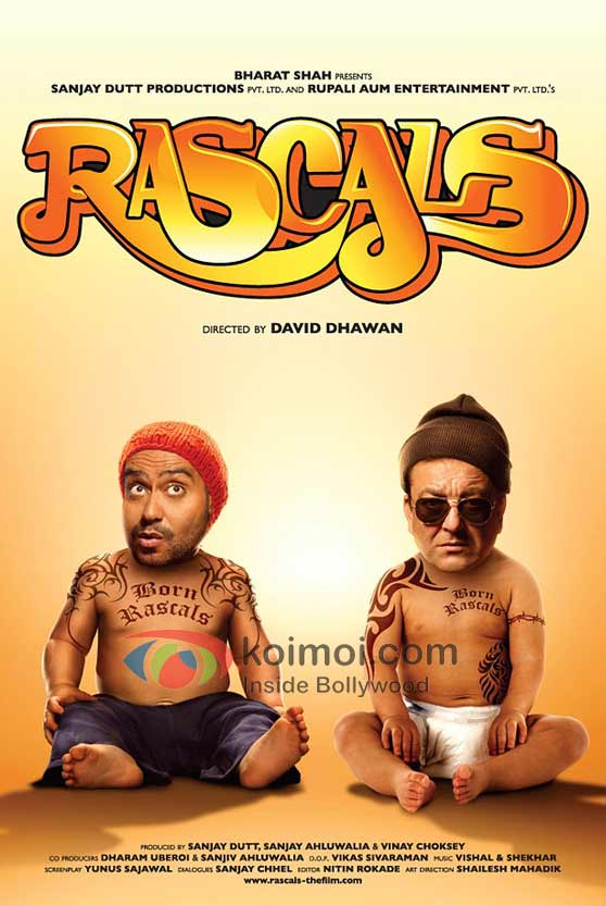 Ajay Devgan, Sanjay Dutt, Rascals Movie First Look-Poster