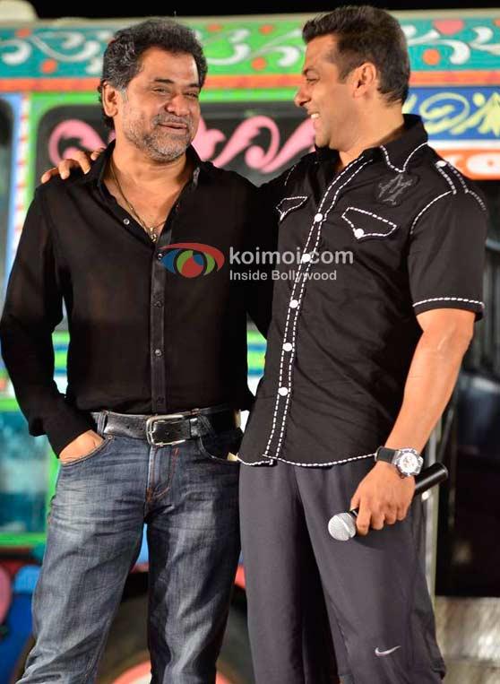 Anees Bazmee, Salman Khan (Ready Movie Music Launch)