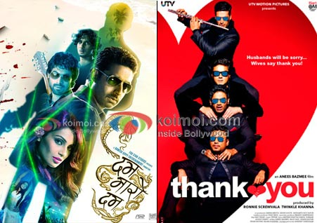 Dum Maaro Dum Goes Movie Poster, The Thank You Movie Poster