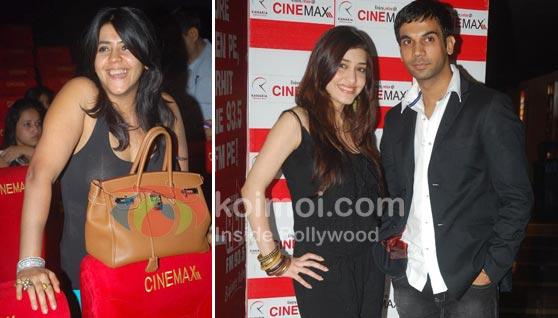 Ekta Kapoor, Kainaz Motivala, Raj Kumar Yadav Ragini MMS Movie Premiere