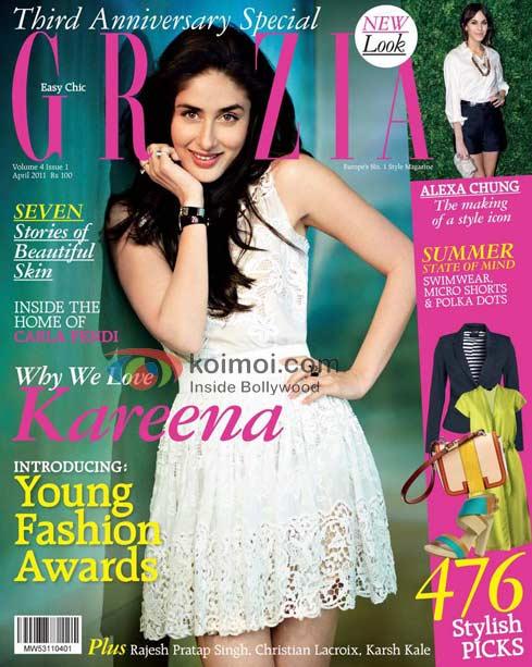 Hot Kareena Kapoor Sizzles on the cover of Grazia magazine
