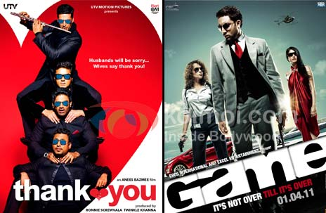 Thank You Movie Poster, Game Movie Poster